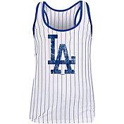 New Era Women's Los Angeles Dodgers Pinstripe Tri-Blend Tank Top
