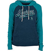 New Era Women's Seattle Mariners Green Tri-Blend Pullover Hoodie