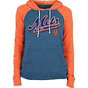 New Era Women's New York Mets Blue Tri-Blend Pullover Hoodie
