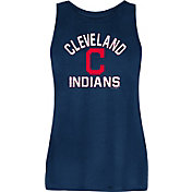 New Era Women's Cleveland Indians Navy Rayon Spandex Tank Top
