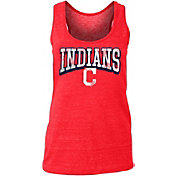 New Era Women's Cleveland Indians Tri-Blend Tank Top