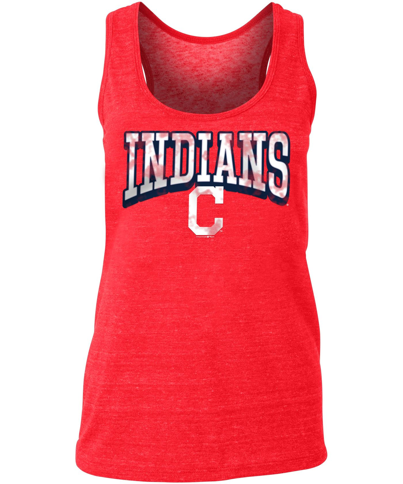 New Era Women's Cleveland Indians Tri-Blend Tank Top