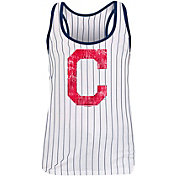 New Era Women's Cleveland Indians Pinstripe Tri-Blend Tank Top