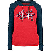 New Era Women's Los Angeles Angels Red Tri-Blend Pullover Hoodie