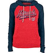 New Era Women's Washington Nationals Red Tri-Blend Pullover Hoodie