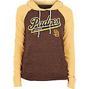 New Era Women's San Diego Padres Brown Tri-Blend Pullover Hoodie