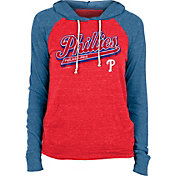 New Era Women's Philadelphia Phillies Red Tri-Blend Pullover Hoodie