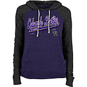New Era Women's Colorado Rockies Purple Tri-Blend Pullover Hoodie