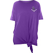 New Era Women's Colorado Rockies Purple Slub Side Tie T-Shirt