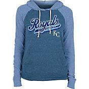 New Era Women's Kansas City Royals Blue Tri-Blend Pullover Hoodie