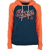 New Era Women's Detroit Tigers Navy Tri-Blend Pullover Hoodie