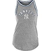 New Era Women's New York Yankees Gray Raw Edge Tank Top