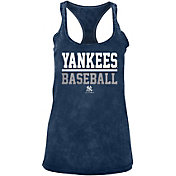 New Era Women's New York Yankees Navy Mineral Wash Tank Top