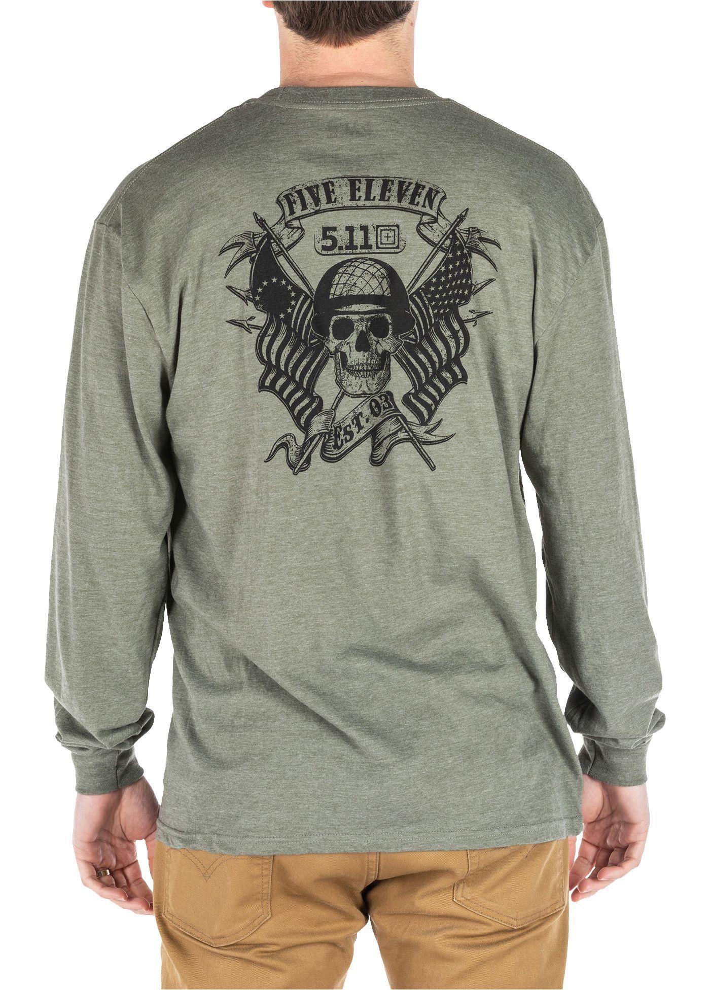Men's 5.11 Tactical Banners and Bayonets Long Sleeve T-Shirt
