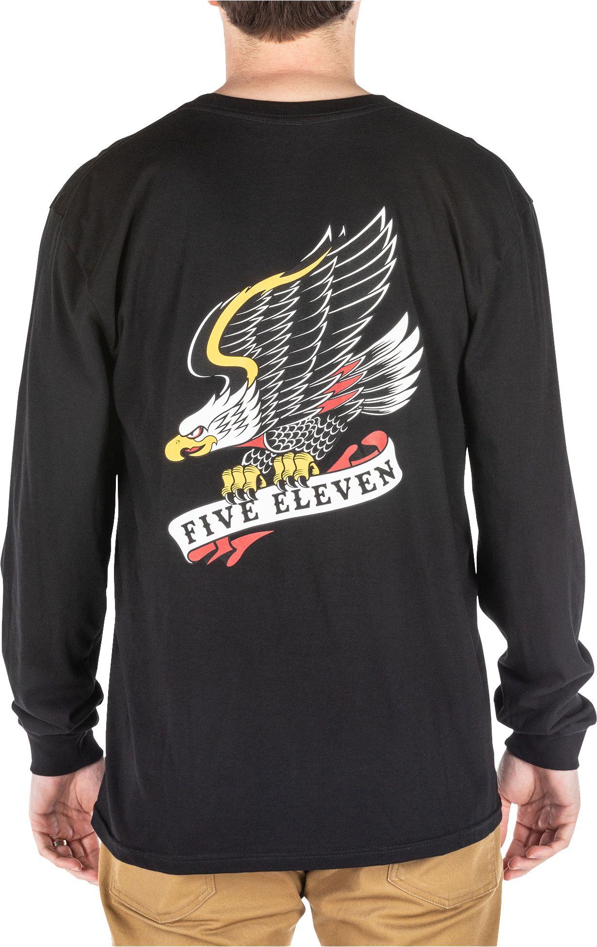 Men's 5.11 Tactical Jerry Eagle Long Sleeve T-Shirt, Large, Black