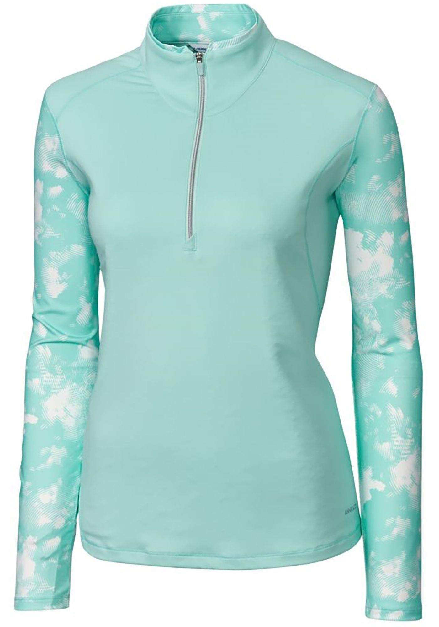 Cutter & Buck Women's Annika Energy Long Sleeve Half-Zip Golf Top