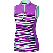 Cutter & Buck Women's Annika Persistence Sleeveless Half-Zip Golf Polo