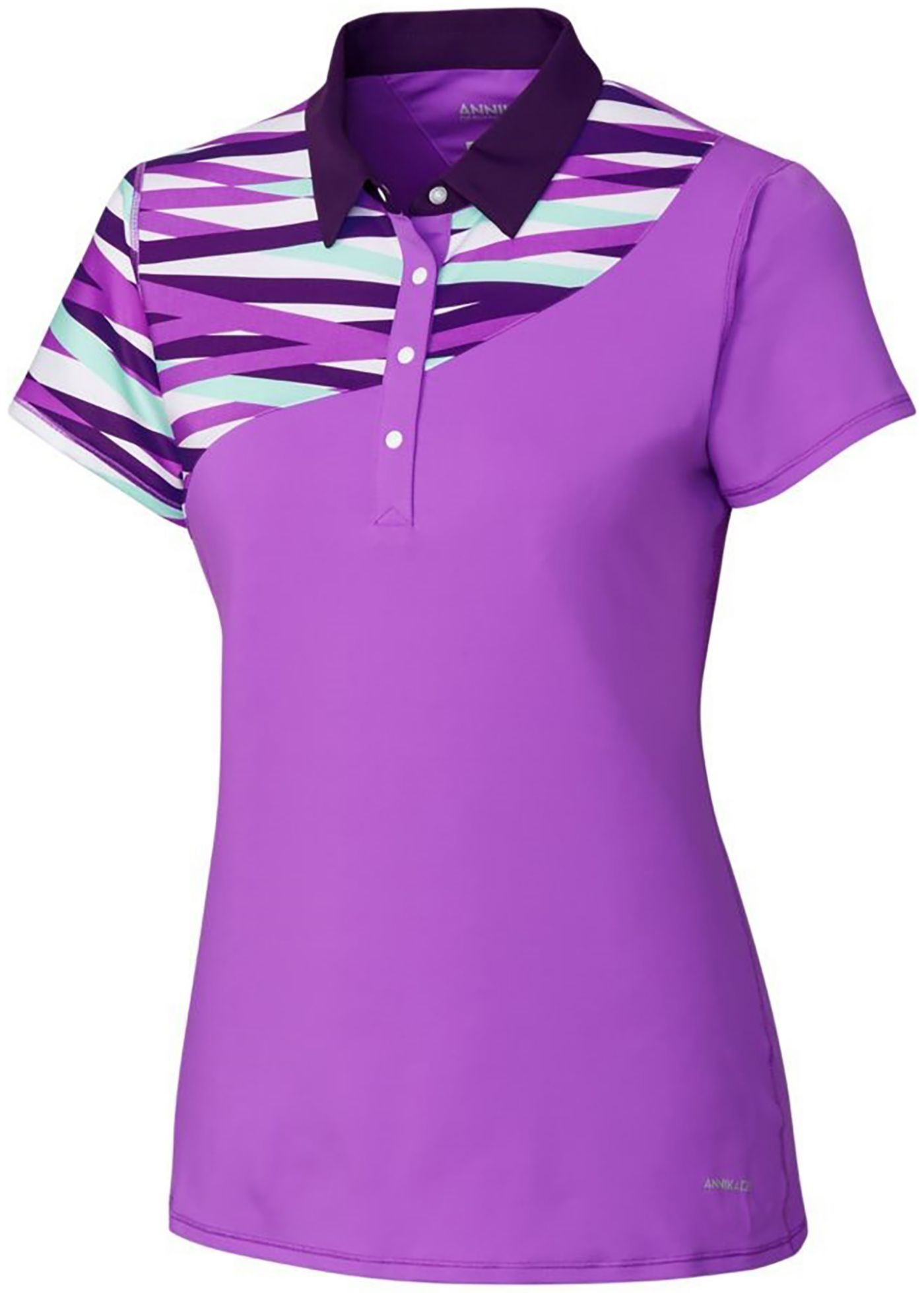 Cutter & Buck Women's Annika Circuit Colorblock Golf Polo