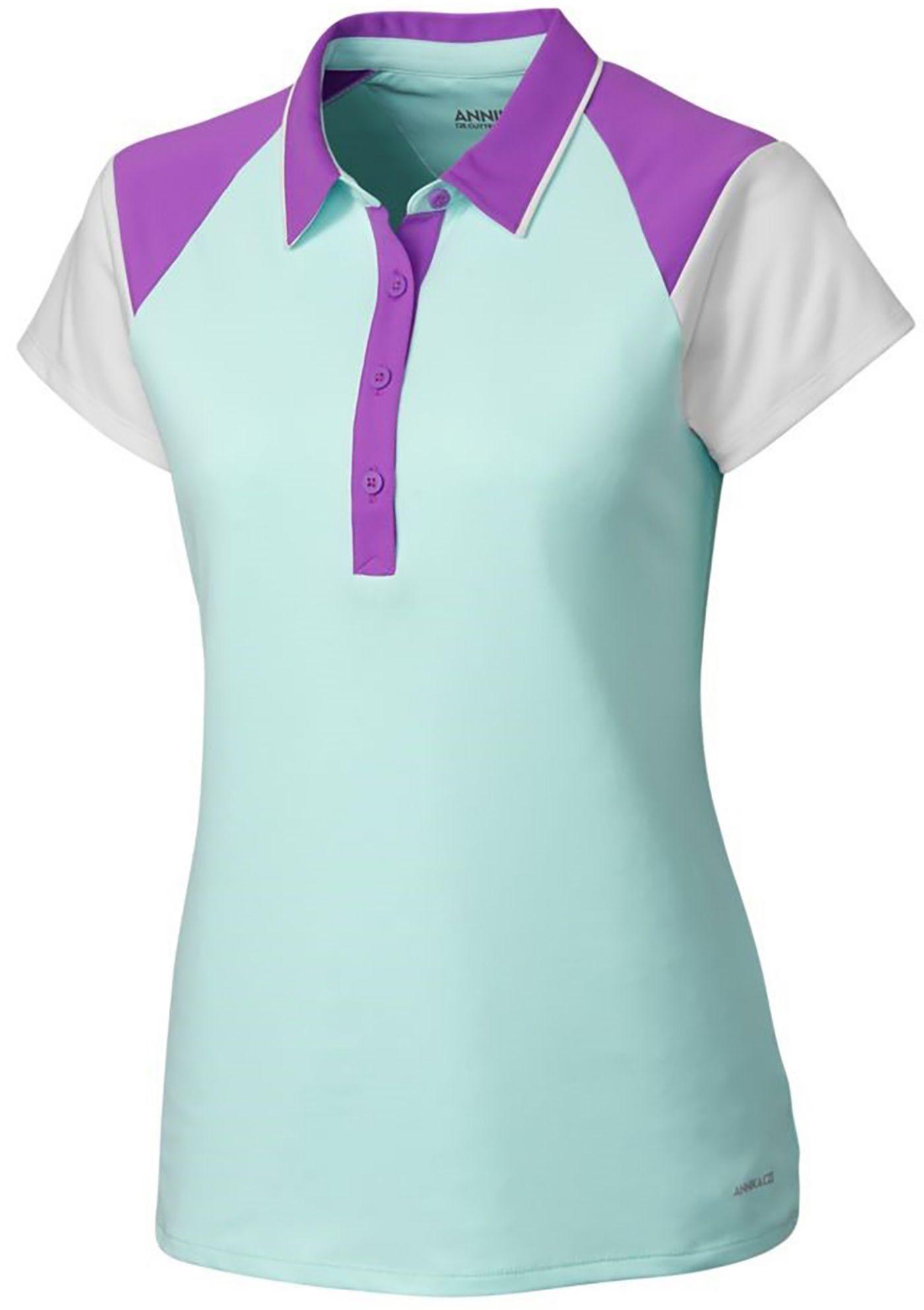 Cutter & Buck Women's Annika Players Colorblock Golf Polo