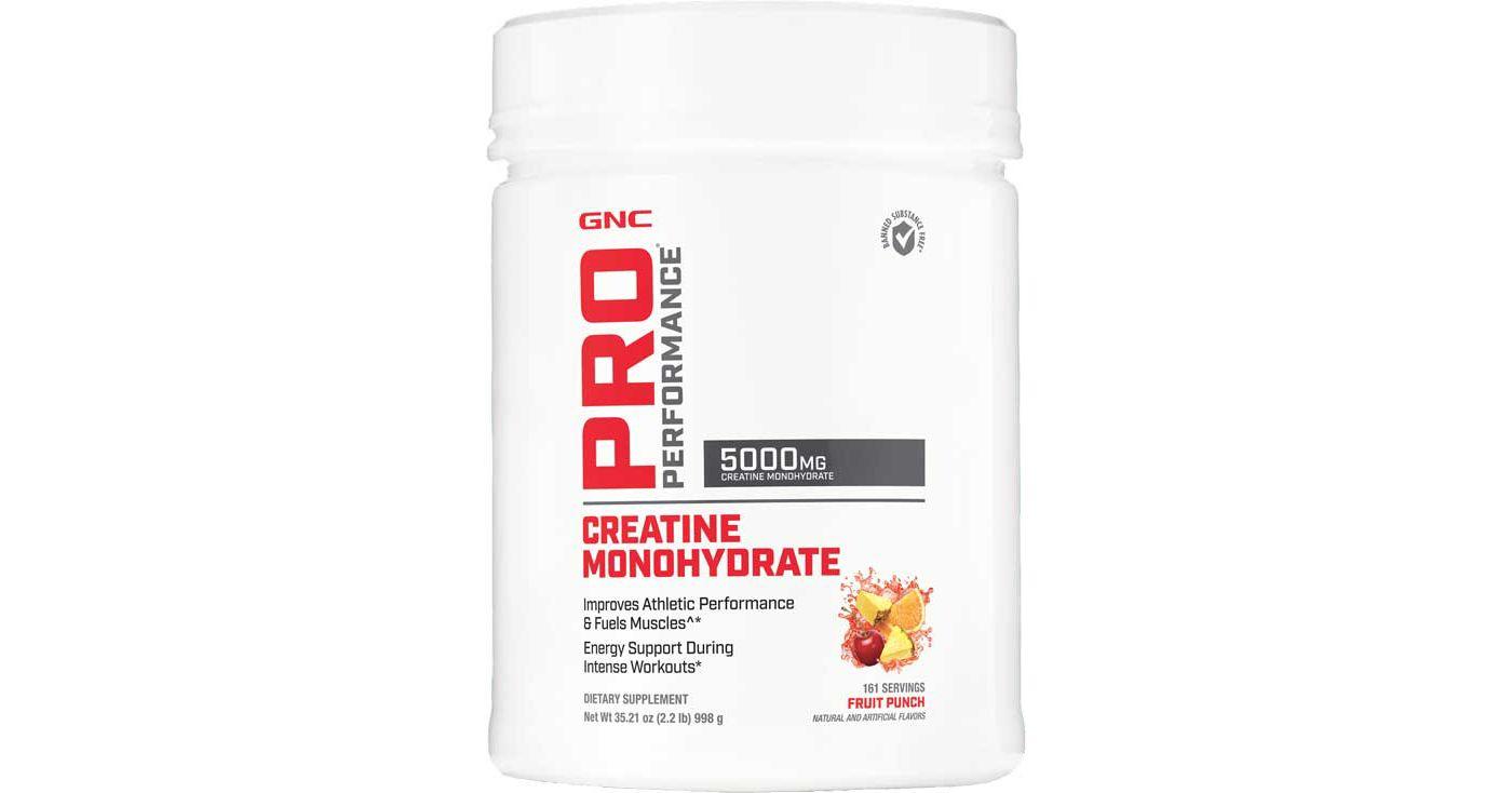 GNC Pro Performance Creatine Monohydrate Fruit Punch 161 Servings