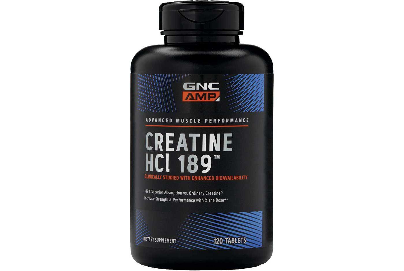 GNC AMP Creatine HCL 189™ 120 Capsules