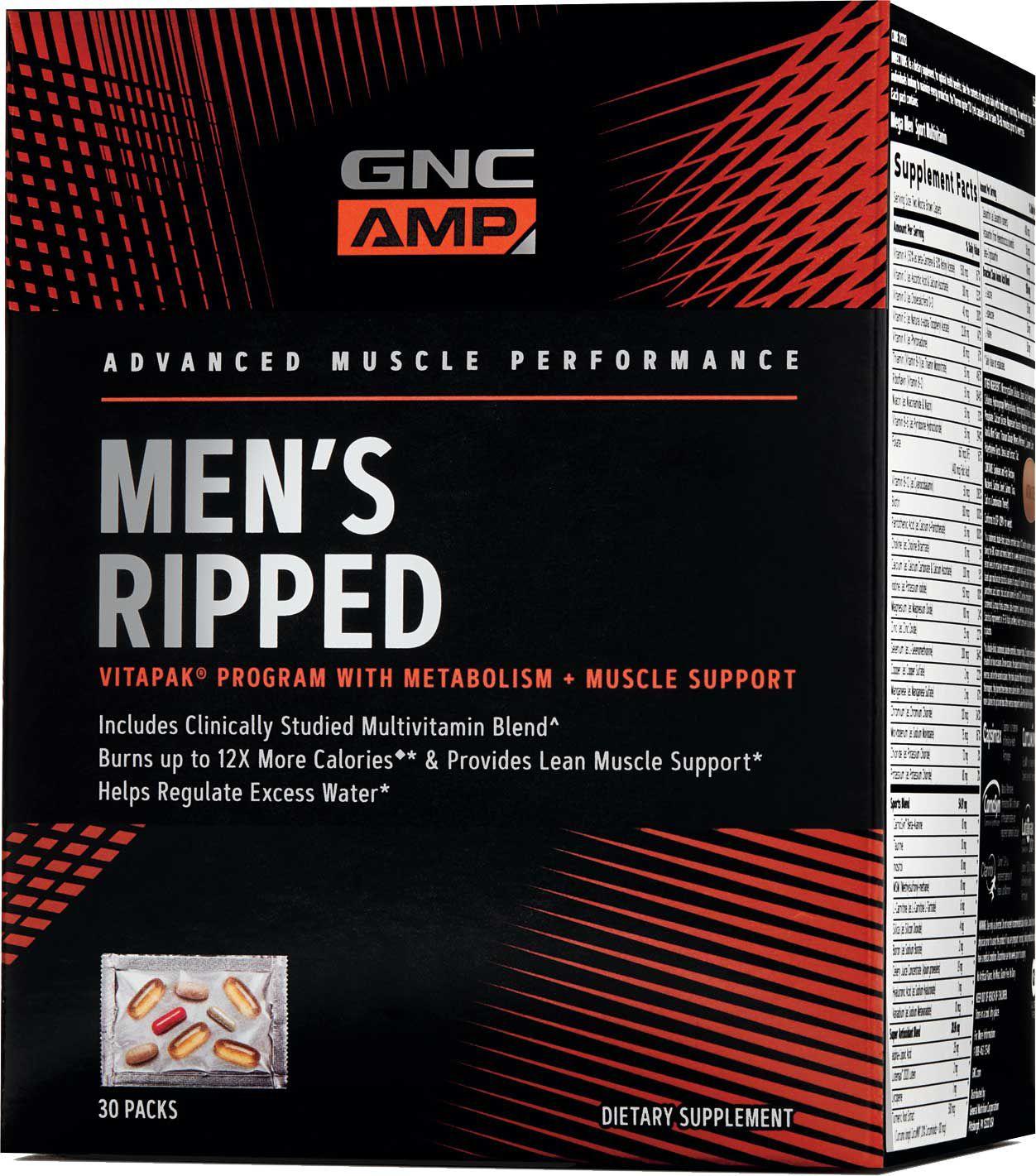 Gnc Amp Mens Ripped Vitapak Program - 30 Packs