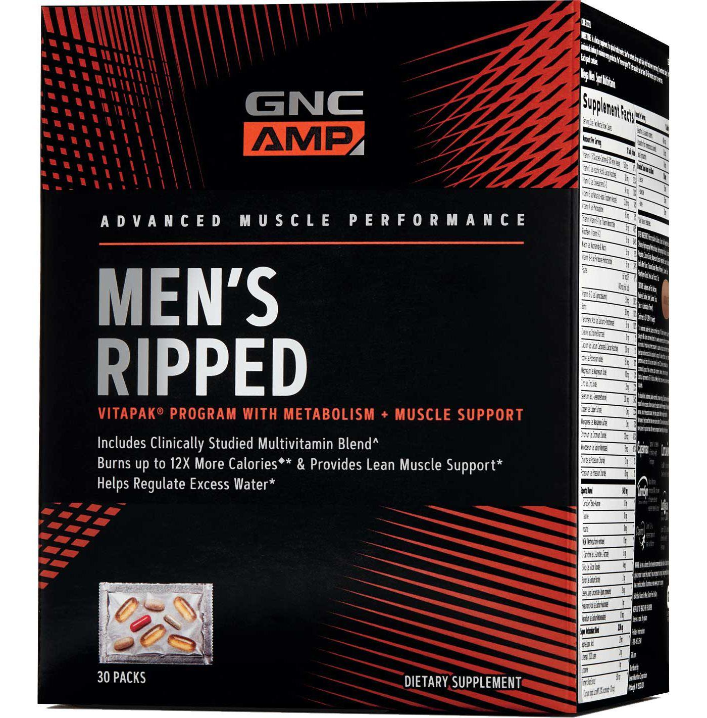 GNC AMP Men's Ripped Vitapak Program