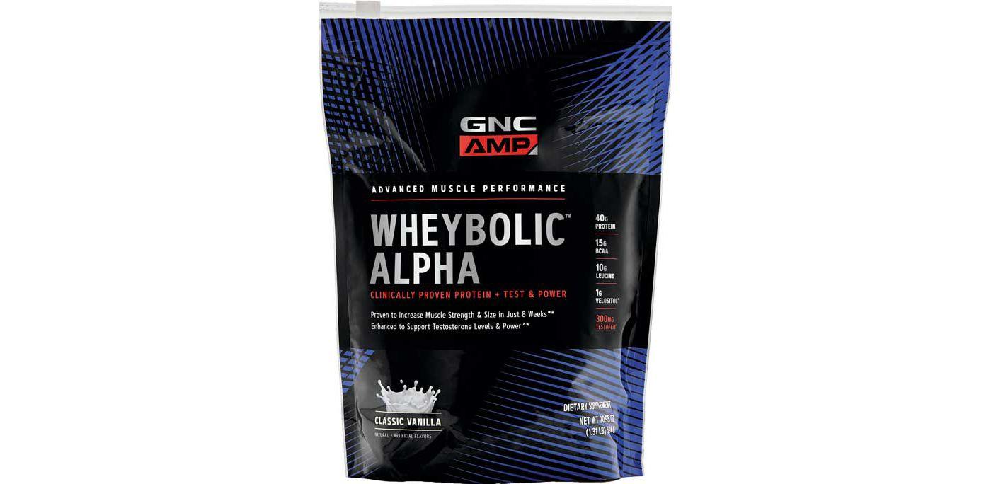 GNC Amp Wheybolic Alpha Protein Classic Vanilla 9 Servings