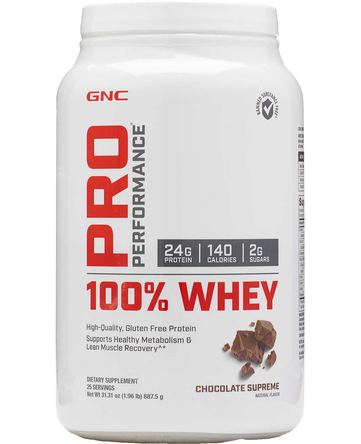 GNC Pro Performance 100% Whey Protein Chocolate Supreme 25 Servings