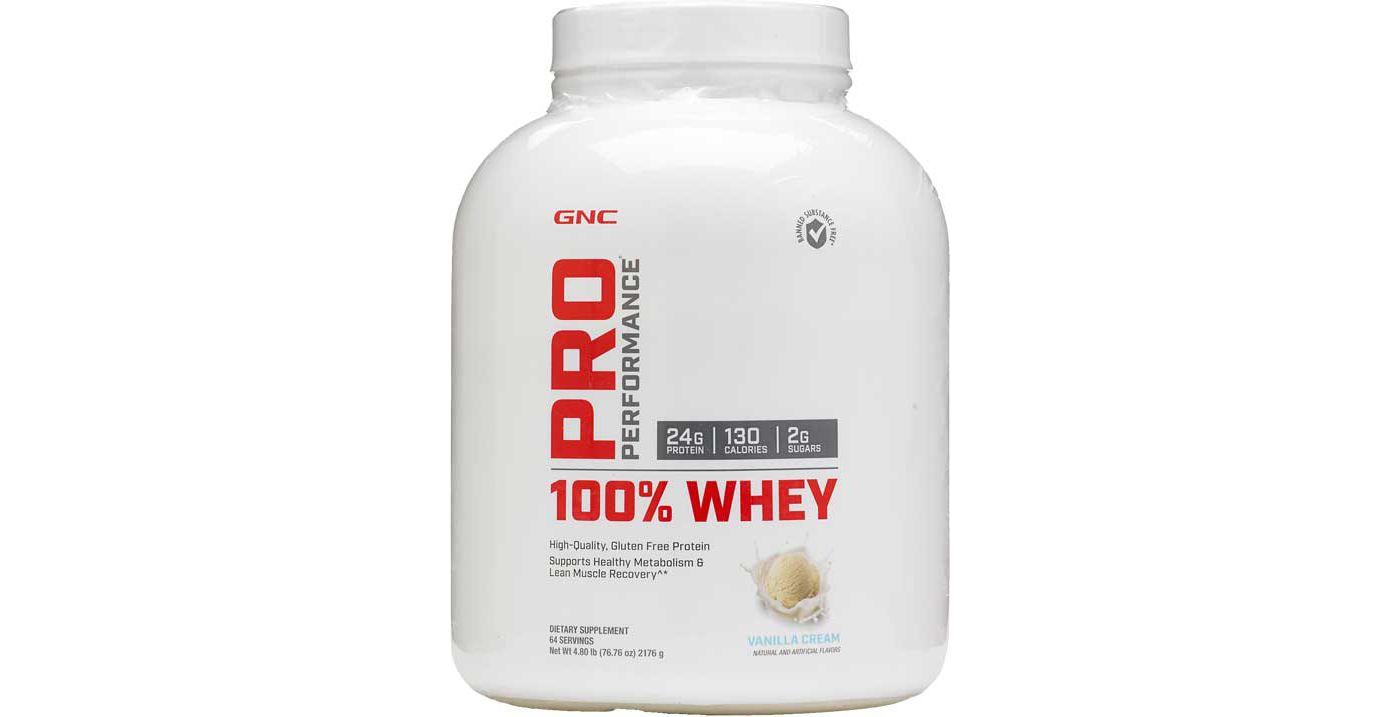 GNC Pro Performance 100% Whey Protein Vanilla Cream 64 Servings