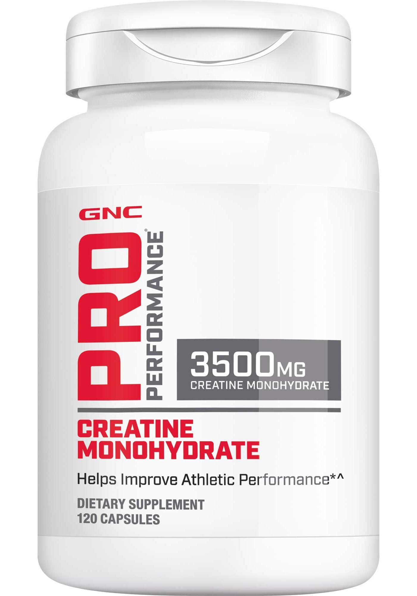 GNC Pro Performance Creatine Monohydrate 3500mg 120 Capsules