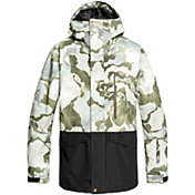 Quiksilver Men's Mission Printed Block Snow Jacket