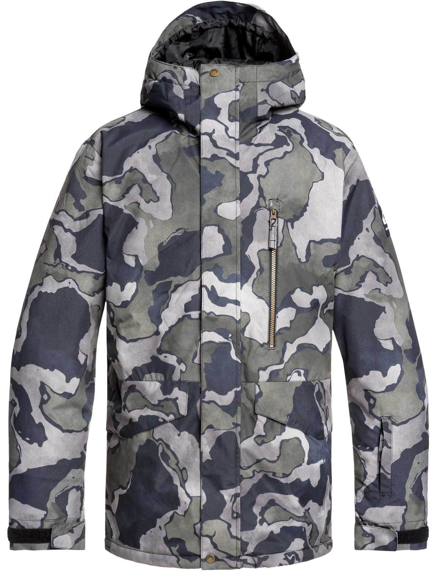 Quiksilver Men's Mission Printed Snow Jacket