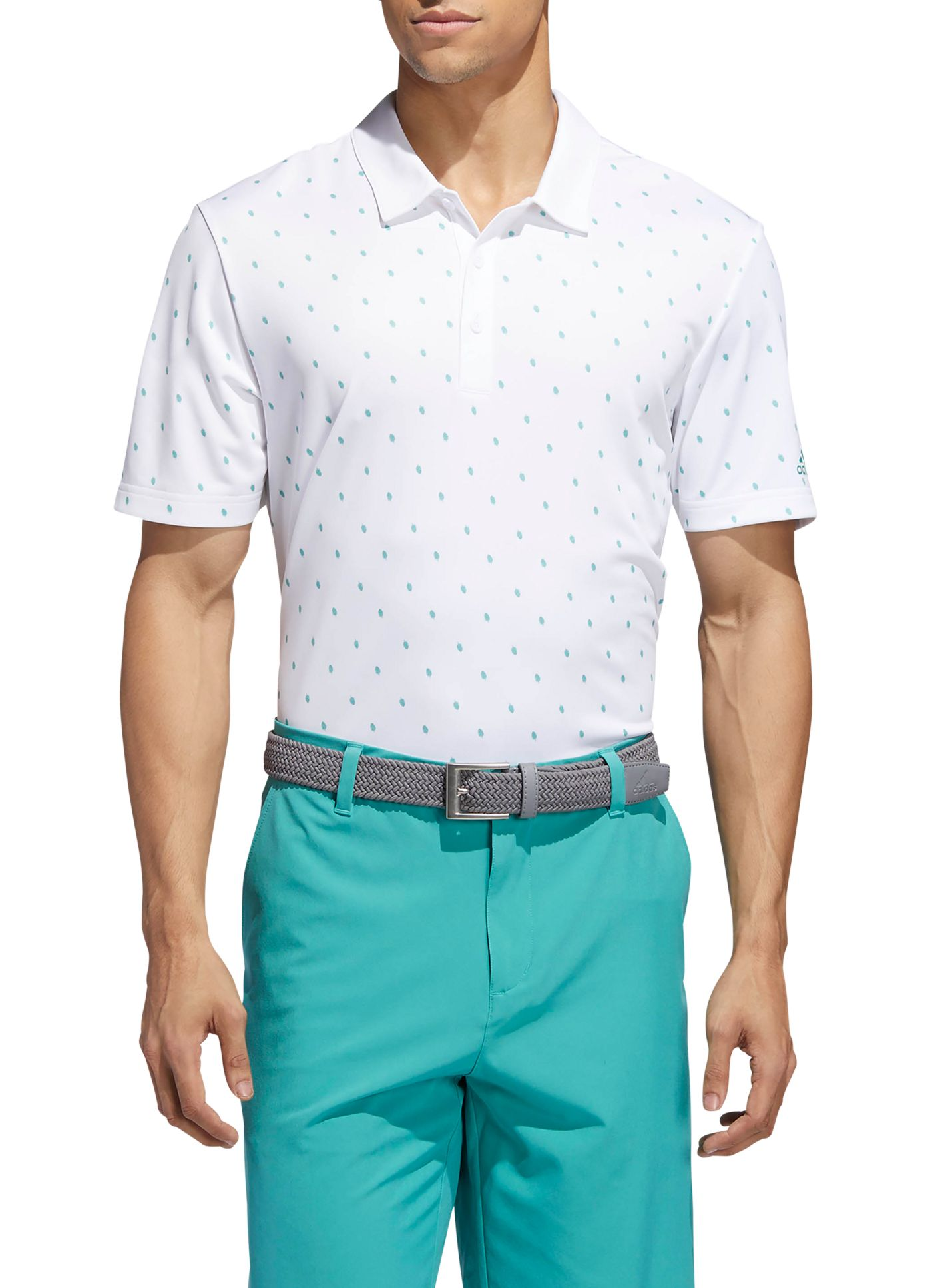 adidas Men's Pinecone Print Golf Polo