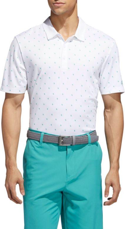 adidas Men's Pinecone Print Golf Polo