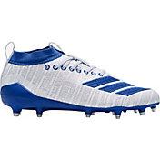 adidas Men's adizero 8.0 Three Stripe Life Football Cleats in White/Royal