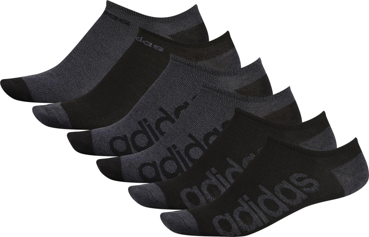 adidas Men's Superlite Linear No-Show Socks - 6 Pack