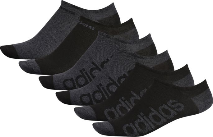 68ce2eb6ef63 adidas Men's Superlite Linear No-Show Socks 6-Pack