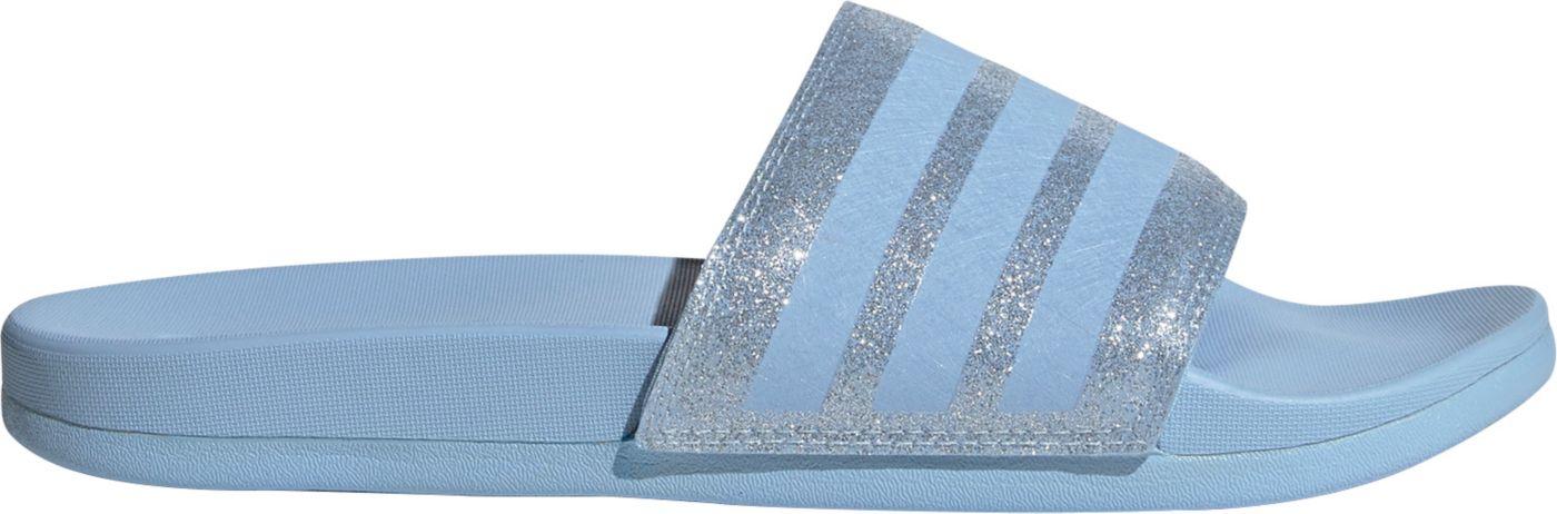 adidas Women's Adilette Comfort Metallic Slides