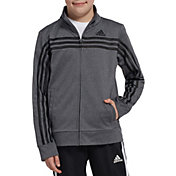 adidas Boys' Heather Colorblock Tricot Jacket