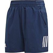adidas Boys' Club 3 Stripe Tennis Shorts