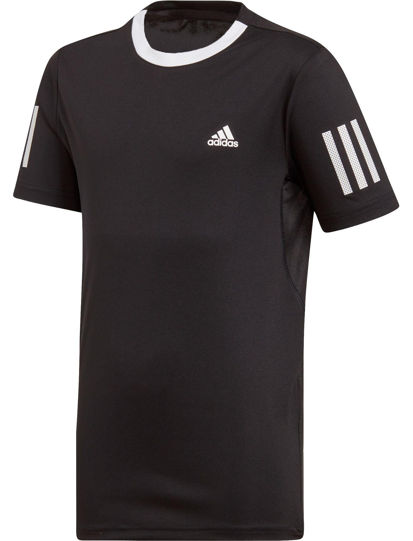 adidas Boys' Club 3-Stripes Tennis Tee