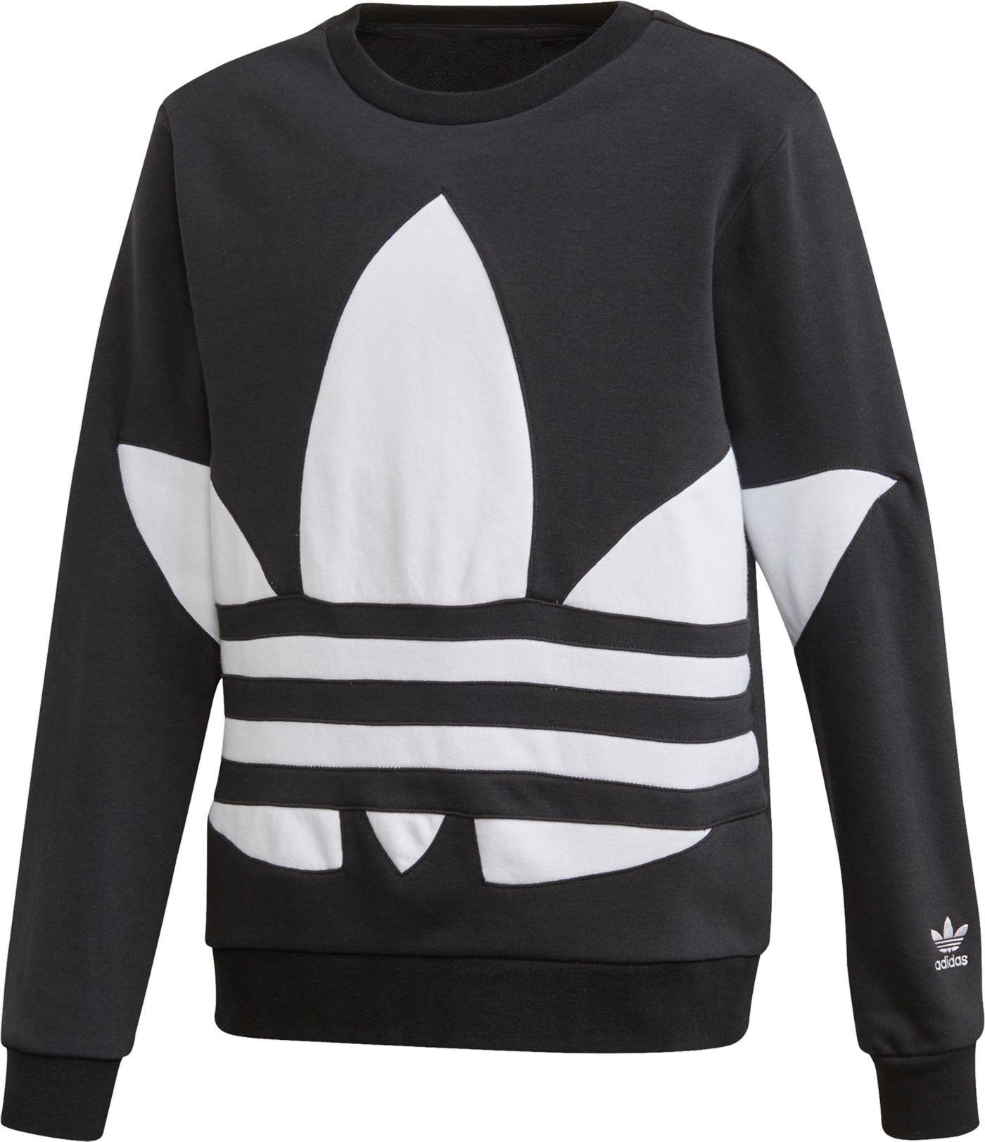 adidas Originals Boys' Big Trefoil Crew Sweatshirt