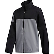adidas Boys' Provisional Full Zip Golf Rain Jacket