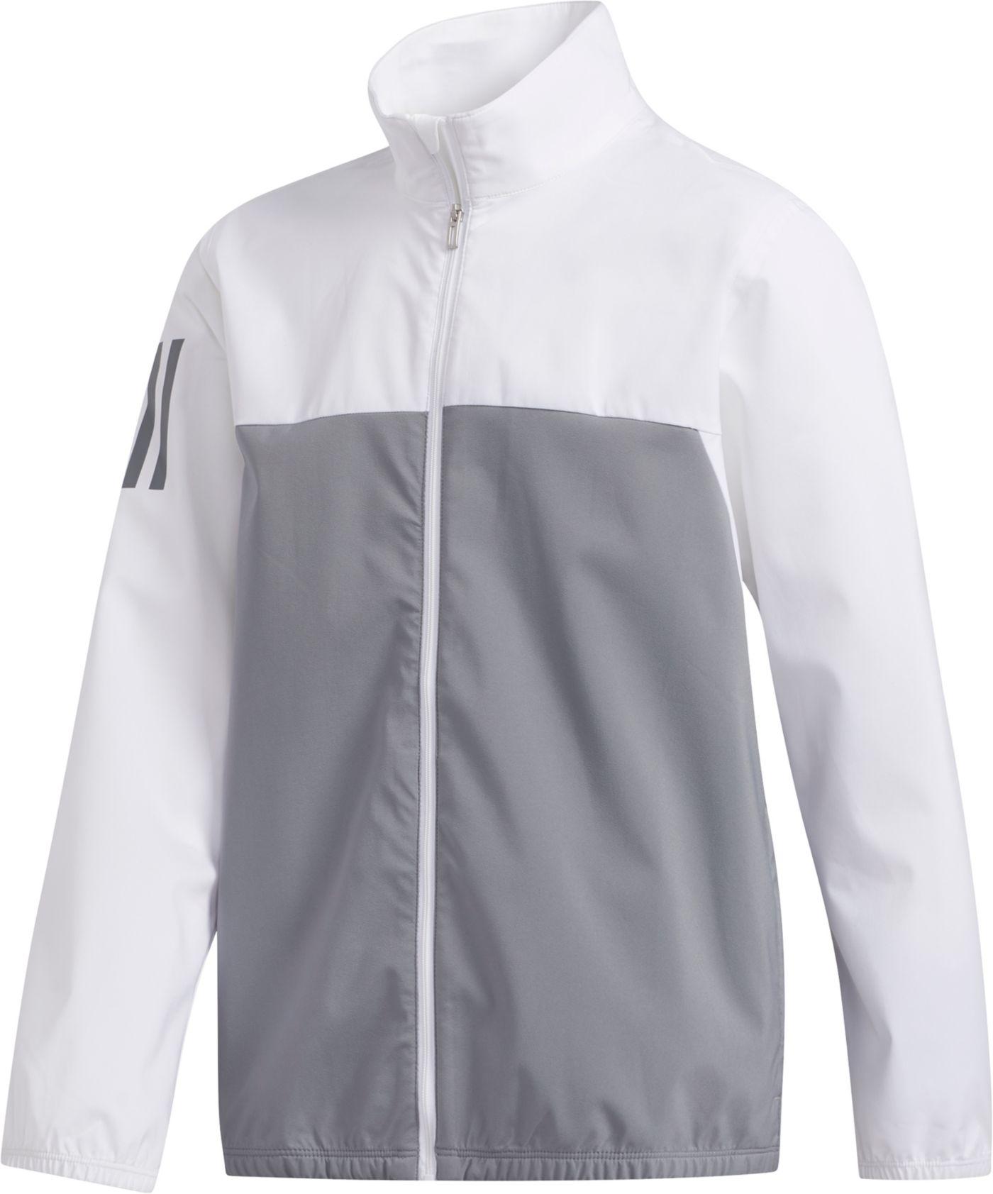 adidas Boys' Provisional Full Zip Golf Rain Jacket