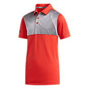adidas Boys' Gradient Stripe Golf Polo