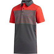 adidas Boys' Engineered Stripe Golf Polo