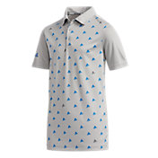 adidas Boys' Short Sleeve Printed Golf Polo