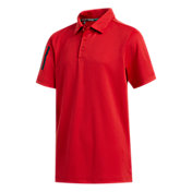 adidas Boys' Three Stripe Sleeve Golf Polo