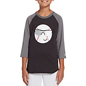 adidas Boys' Triple Stripe ¾ Sleeve Baseball Graphic Shirt